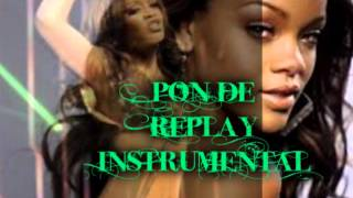 rihanna pon de replay instrumental