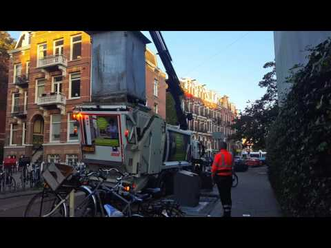 Garbage Truck in Amsterdam