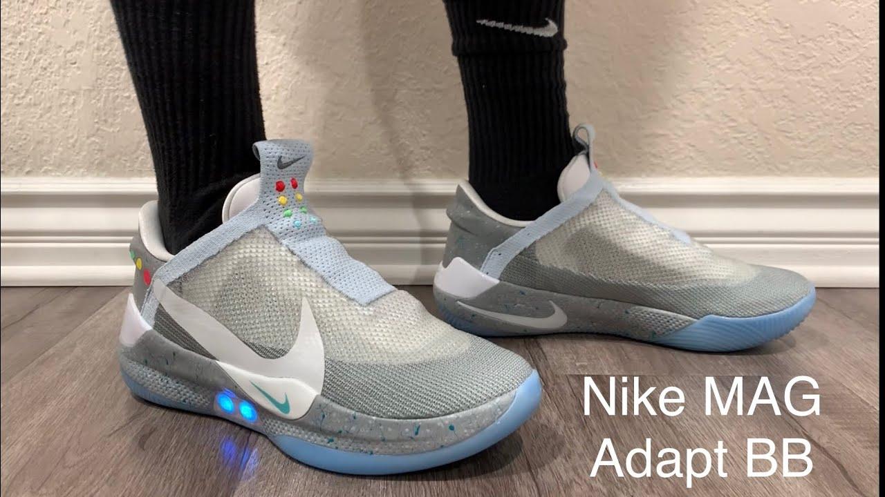 Nike Adapt BB AIR MAG Wolf Grey On Feet