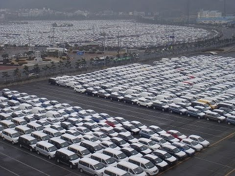Ship Unloads A Thousand Cars At Batangas Port In The Philippines