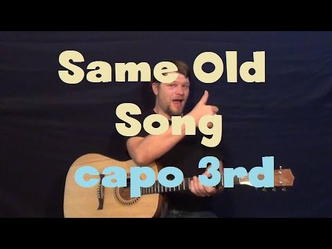 Same Old Song (The Weeknd) Easy Strum Guitar Lesson Capo 3rd Fret ...