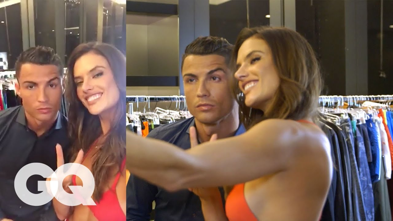 Behind The Scenes Of Alessandra Ambrosio S Gq Body Issue Shoot With Cristiano Ronaldo Gq Youtube