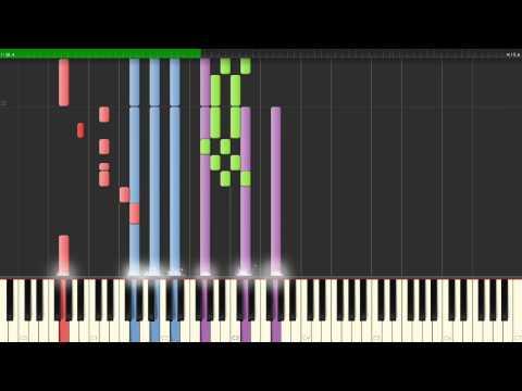 Rockstar — Nickelback, How To Play, Piano Tutorial  Synthesia