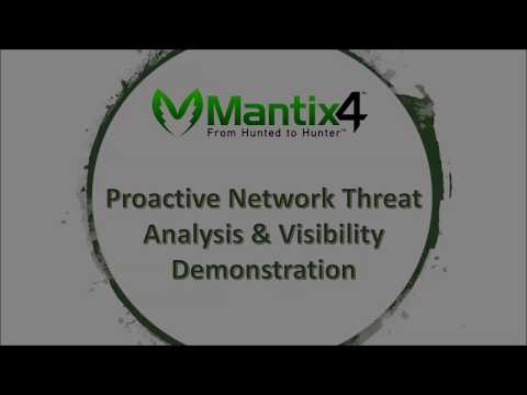 Mantix4 Proactive Network Threat Analysis and Visibility  Demonstration