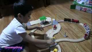 Train Toy: Wooden Road & Rail Way Travel Kit By Brio