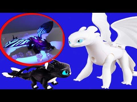 💜 Семья Беззубика и Дневной Фурии 💜 Как приручить дракона 3 Игрушки