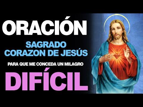 🙏 Oración PARA PEDIR UN MILAGRO DIFÍCIL al Sagrado Corazón de Jesús 🙇️
