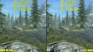 The Elder Scrolls Skyrim Special Edition Pc GTX 1060 Vs AMD RX 480 4K Frame Rate Comparison