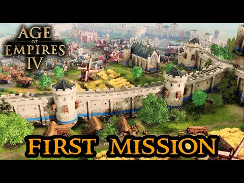 Age of Empires 4 MISSION ZERO - First Mission Open Beta    Gameplay English    RTS 2021