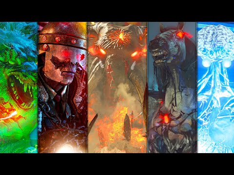 Black Ops 4 Zombies: ALL FULL SOLO BOSS FIGHTS IN HARDCORE MODE (Flawless Completions)