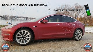 tesla Model 3 Real World WINTER Driving Experience and Battery Range Test - PART 1