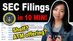 Shelf & ATM Offering - How to read SEC Filings when Day Trading Penny Stock Gappers $NERV