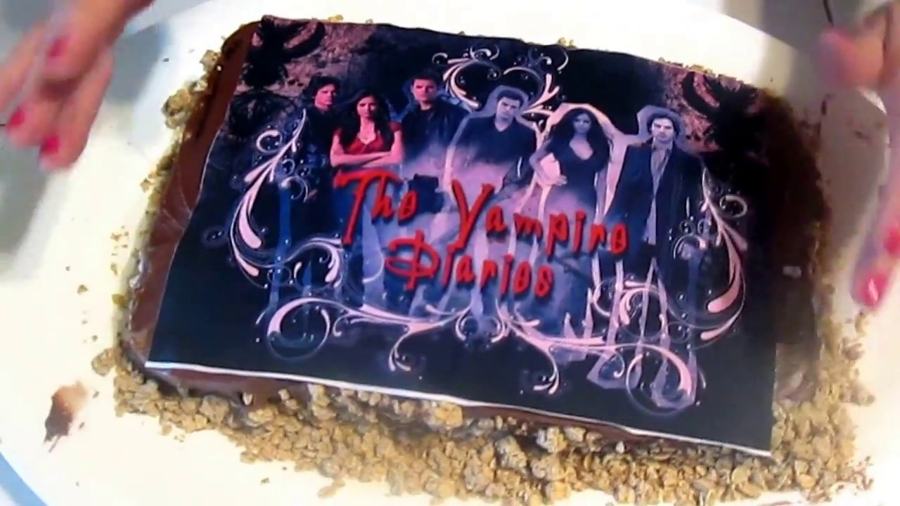 The Vampire Diaries Cake With Seasparkle Youtube