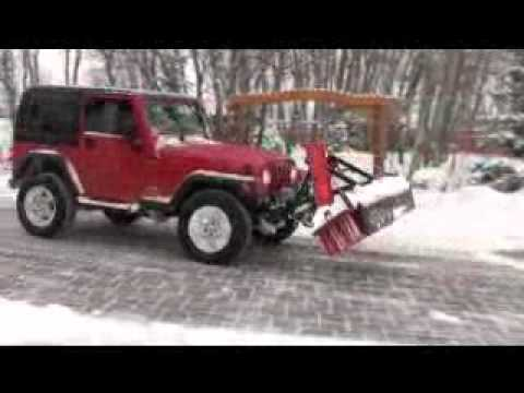 Jeep Plowing Snow With Broom Youtube