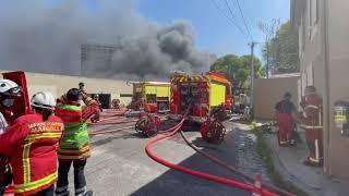 Marseille : violent incendie à proximité de la Cité radieuse