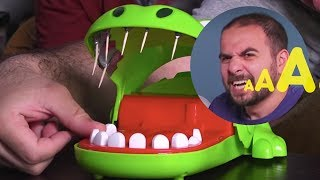 Timsah Dişçide Oynadık |Ama Dişlerinde Kürdanla!