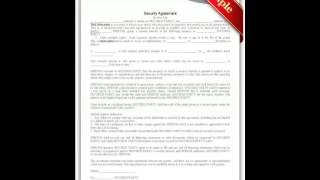 """Free Printable """"Security Agreement"""" Forms"""