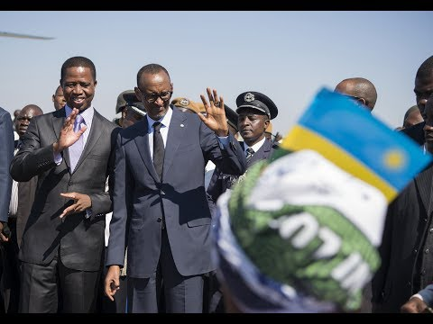 PRESIDENT KAGAME IN ZAMBIA FOR A STATE VISIT