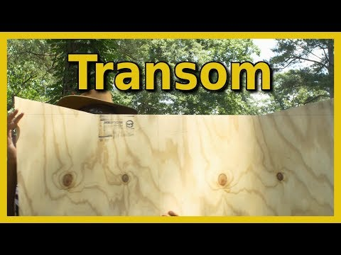 Transom Cutout | Project Mud Boat | Thai Longtail Boat Plans