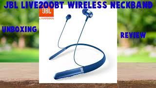 JBL LIVE200BT Wireless in-Ear Neckband Headphones Unboxing