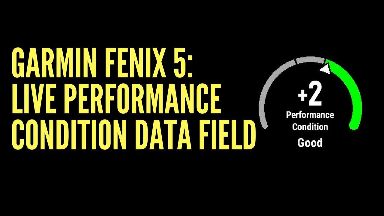 GARMIN FENIX 5: LIVE PERFORMANCE CONDITION DATA FIELD