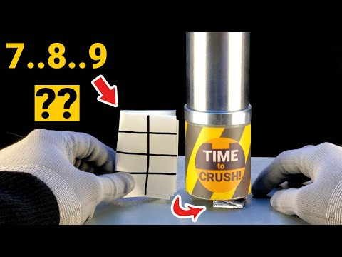 Can One Fold A Sheet Of Paper Eight Times With A Hydraulic Press?