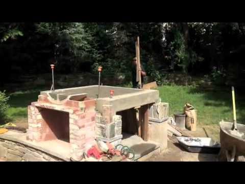 Wood Pizza Oven/ Outdoor Fireplace Combo Build   YouTube