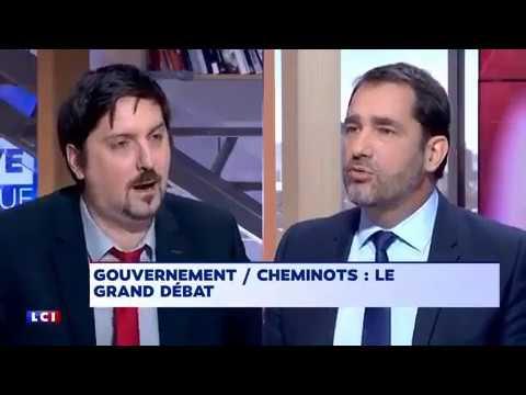 Débat tendu entre Laurent Brun (CGT Cheminot) et Christophe Castaner (LREM)