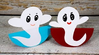 Swinging Paper Ghosts | Halloween Crafts for Kids | Activities for Kids
