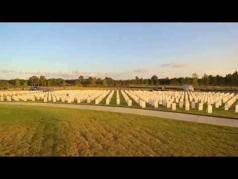 Jacksonville National Cemetery (Drone test)
