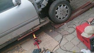 Зварювання порогів Мерседес E240/W210, саморобний кузовний ремонт