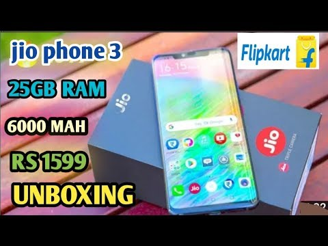 Jio Phone 3 Unboxing . Price 1599 , Camera 25mp, Battery 6000mah.