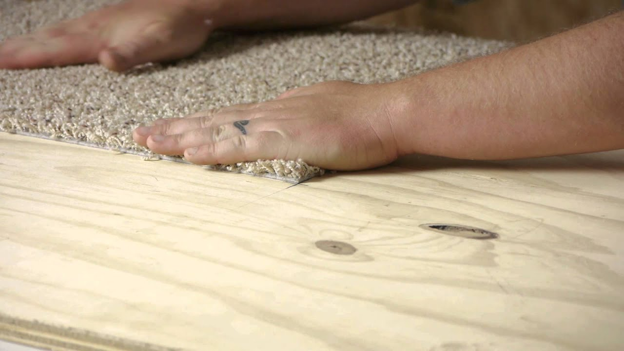 How To Install Peel U0026 Stick Carpet Tiles Easily : Flooring Help   YouTube