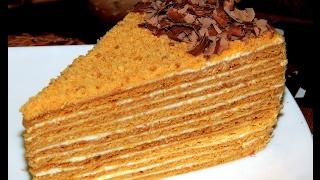 МЕДОВИК . Торт медовик классический со сметанным кремом.