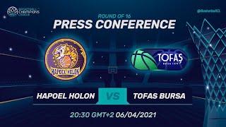 Hapoel Unet-Credit Holon v Tofas Bursa - Press Conf. | Basketball Champions League 2020/21