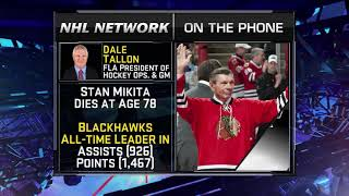 NHL Tonight:  Dale Tallon:  reflects on teammate Stan Mikita  Aug 7,  2018