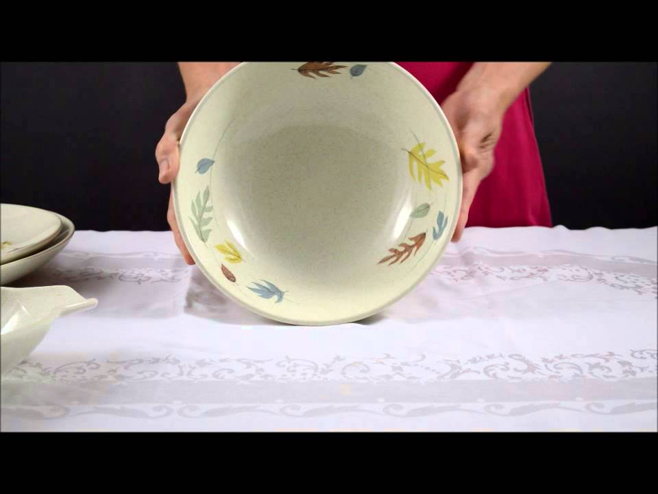 The Franciscan China Company Autumn Leaves Pattern Serving Set - YouTube