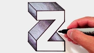 How to Draw the Letter Z in 3D