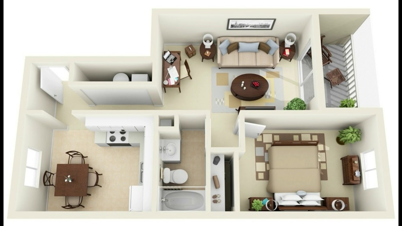 5+ One Bedroom Home Designs With floor Plan  House Plans ideas  5  Bedroom Apartment Floor Plans