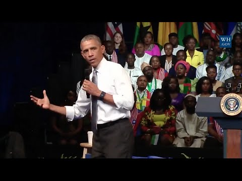Obama At Young African Leaders Town Hall -Entire Event