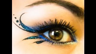 "Glitter Gorgeous Simple Liner & ""Blue Irises' NYX"