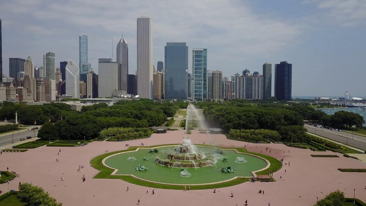 DJI Mavic Pro - Downtown Chicago - Buckingham Fountain - Willis Tower - Grant Park - 4K Video - YouTube