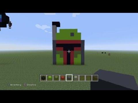 Minecraft Pixel Art Boba Fett Helmet Youtube