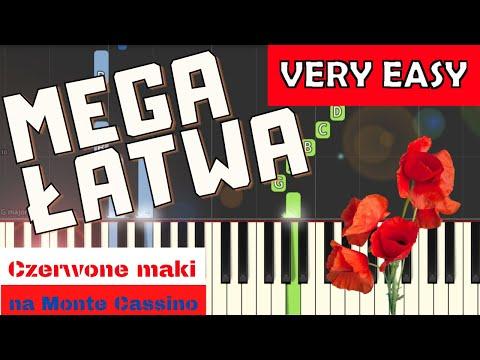 🎹 Czerwone Maki na Monte Cassino - Piano Tutorial (MEGA ŁATWA wersja) 🎹