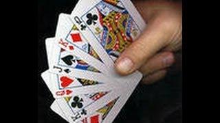 фокус с пятью игральными картами