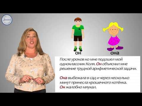 Русский 4 Личные местоимения 1,2,3 лица