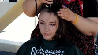 Repeat youtube video Courtney S. St. Baldrick's Head Shave 2013