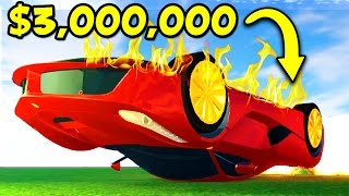 CRASHING MY NEW $3,000,000 FERRARI IN ROBLOX! (Roblox Vehicle Simulator)