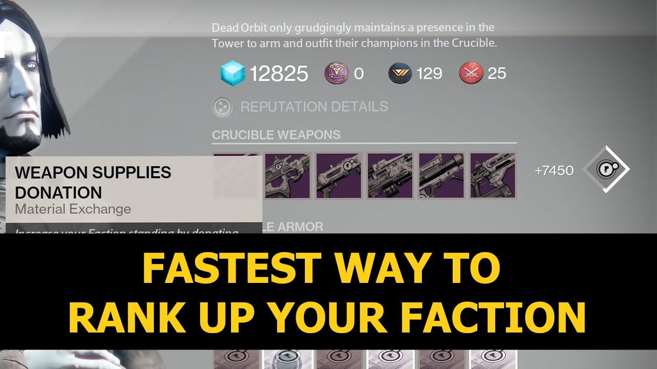Destiny fastest way to rank up your faction youtube