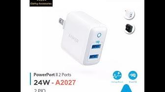 SẠC ANKER PowerPort II - công nghệ PowerIQ, 2 cổng sạc, 24W